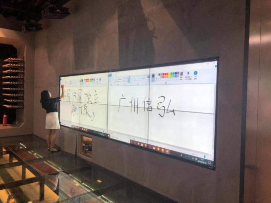 信弘55寸拼接屏方案_梦幻广州城市展览中心